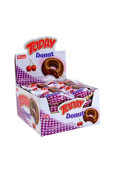 Today Donut Vişneli Kek 50 Gr. 24 Adet (1 Kutu)