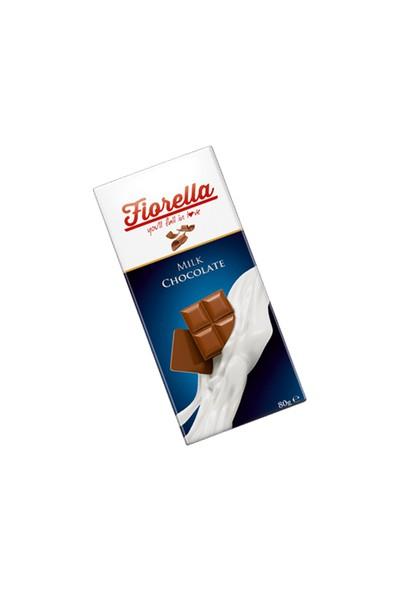 Fıorella Sütlü Çikolata Tablet 80 gr 10 Adet (1 Kutu)