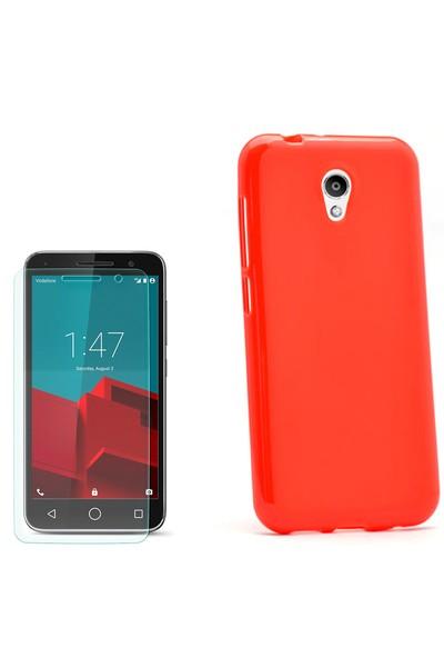 Gpack Vodafone Smart Style 7 Kılıf Süper Silikon + Cam