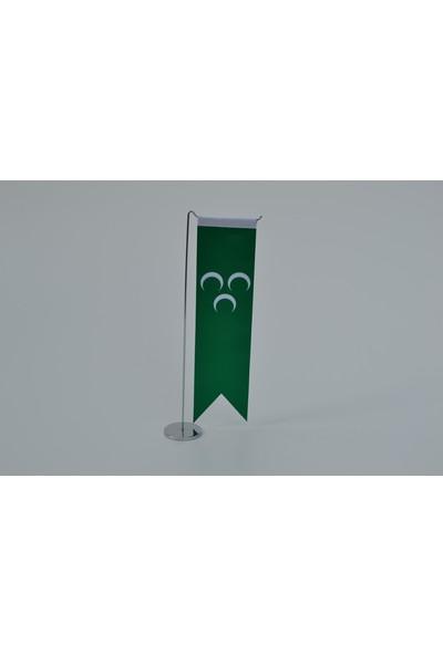Bayrakal Osmanlı Bayrağı Tekli Kırlangıç Masa Bayrak Takımı