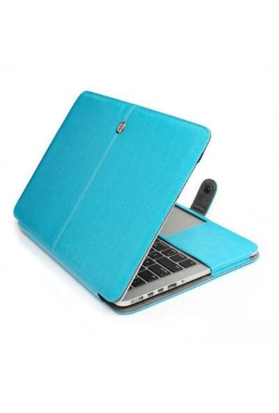Alaca Apple Macbook Air 13.3'' Kapaklı Deri Kılıf