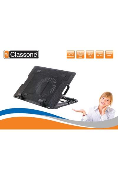 """Classone M25 5X Yükseklik Ayarlı Notebook Soğutucu 10-17"""" Uyumlu/Siyah"""