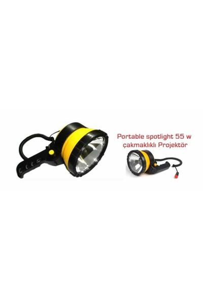 Projektör Saplı Yuvarlak 12V 6İnc Dönebilir El Projektörü 4502103