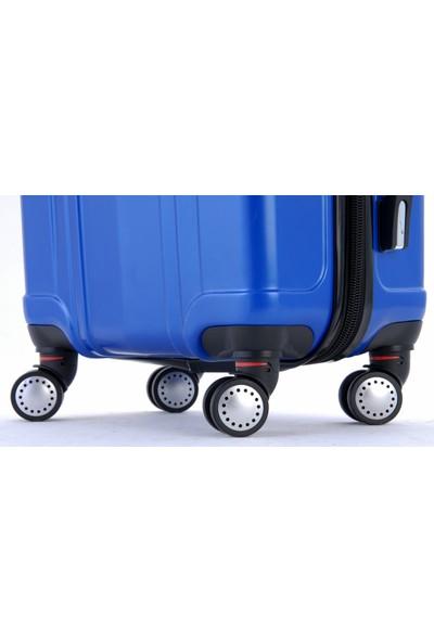 Gnza 8104 4 Tekerlekli 3'Lü Valiz Seti Mavi