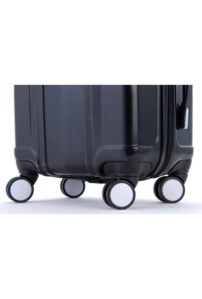 Gnza 8104 4 Tekerlekli Orta Boy Valiz Siyah