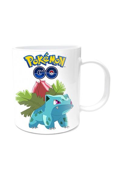 Pokemon Tasarımlı Kupa Bardak Ivysaur