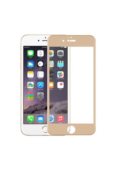 Exclusive Phone Case İphone 6 6S Tempered Glass 3D Cam Gold