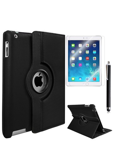 Exclusive Phone Case iPad Air 2 Kılıf Tam Korumalı +Tempered Glass+KalemOtg Kablo