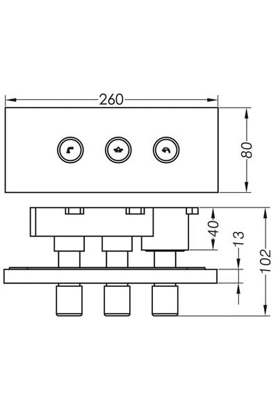 Penta Ankastre Dus-banyo Bataryası