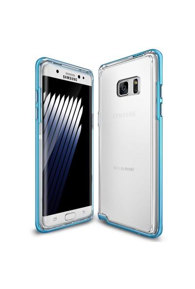 Ringke Frame Galaxy Note 7 FE Çerçeveli Bumper Kılıf Ocean Blue - Extra Tam Koruma