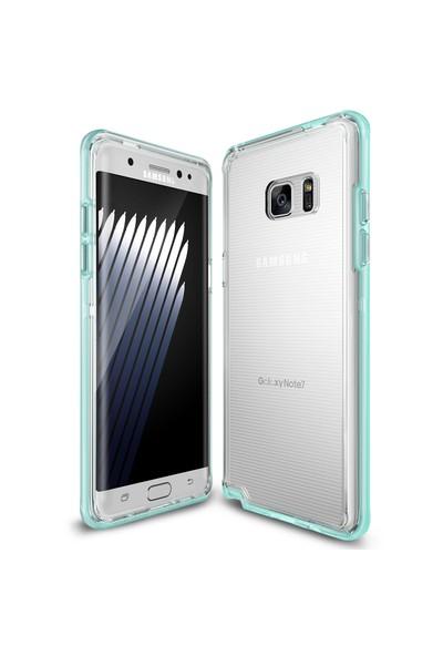 Ringke Frame Frost Galaxy Note 7 FE Çerçeveli Bumper Kılıf Mint - Extra Tam Koruma