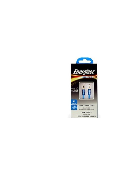 Energizer C13JAJAHBL4 1.5m Stereo 3.5 to 3.5 Mavi Ses Kablosu