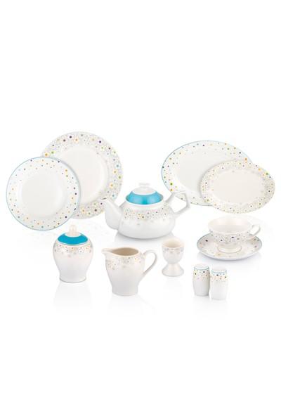 Pierre Cardin Daisy 49 Parça 6 Kişilik Porselen Kahvaltı Takımı