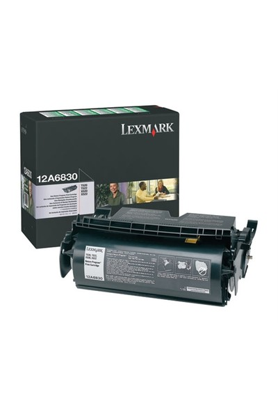 Lexmark 12A6830 Siyah Orjinal Toner