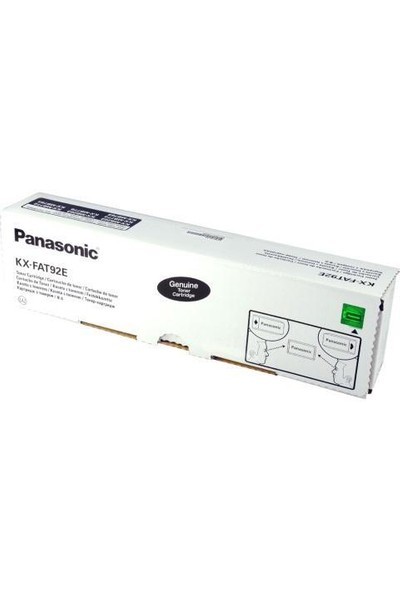 Panasonic Kx-Fat92E Siyah Orjinal Toner