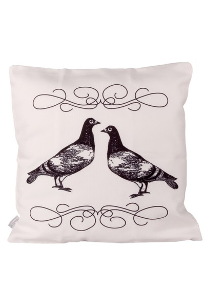 Cushion Design White Doves Yastık Kılıfı