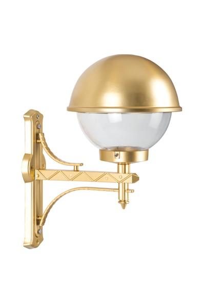 Şanlı Aliminyum Altın Yaldız Boyalı Tas Model Fener Duvar Aplik