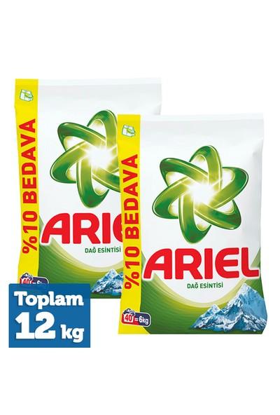 Ariel Matik Toz Deterjan Dağ Esintisi 6 Kg x 2 Adet
