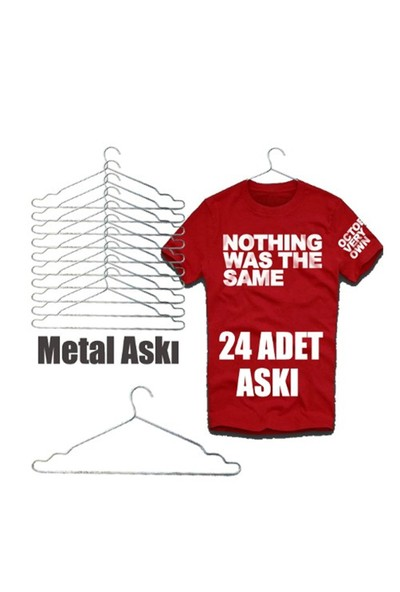 Metal Elbise Askısı Kıyafet Askısı 24 lü Askı