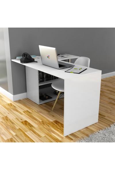 Hepsi Home Fonksiyonel Gelincik Çalışma Masası - Beyaz