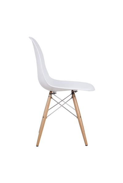 Hepsi Home Eames İthal Sandalye Ahşap Ayaklı - Beyaz