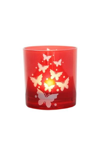 Arte Home Butterfly Kırmızı Mumluk