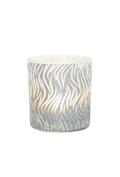 Arte Home Flame Gümüş Mumluk