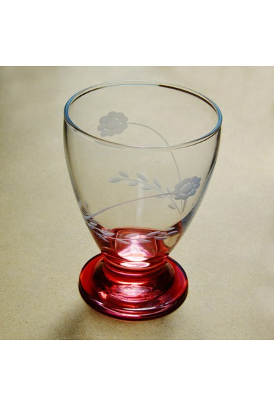 Başak 41011 Çın Çın 12 Adet (Kırmızı Papatya) Su-Meşrubat Bardaği