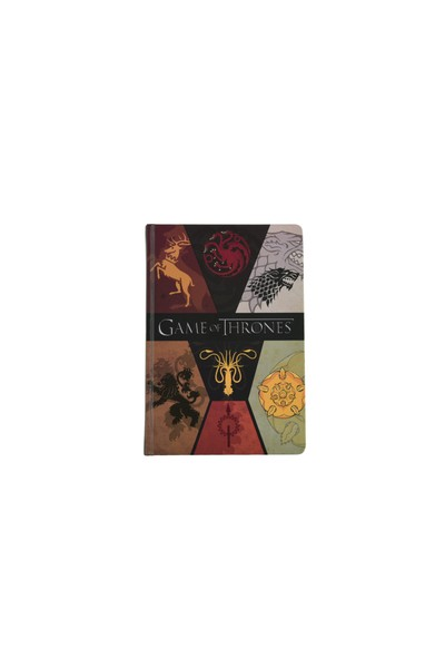 Game Of Thrones A5,Sert Kapaklı,Lastikli,120 y. Defter