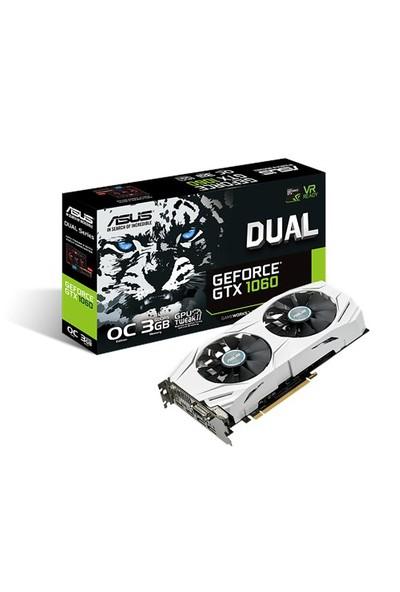Asus DUAL Nvidia GeForce GTX 1060 3GB OC 192Bit GDDR5 (DX12) PCI-E 3.0 Ekran Kartı DUAL-GTX1060-O3G