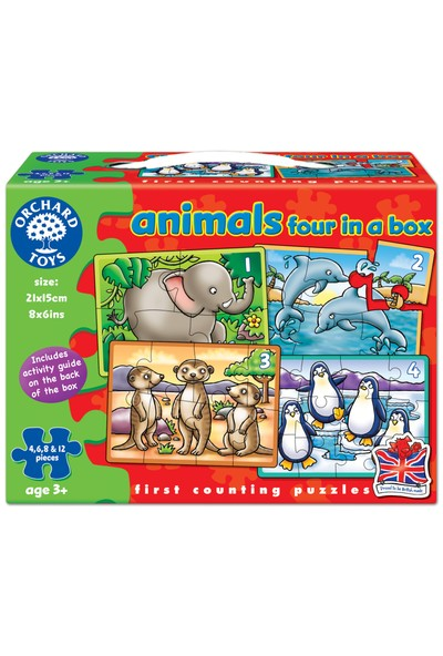 Orchard Animals 4 in A Box / 3 Yaş+