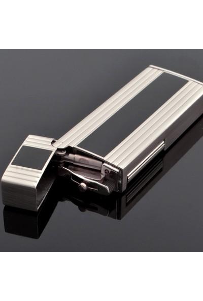 Sarome Siyah Şeritli Yandan Çarklı Taşlı Çelik Çakmak srm052