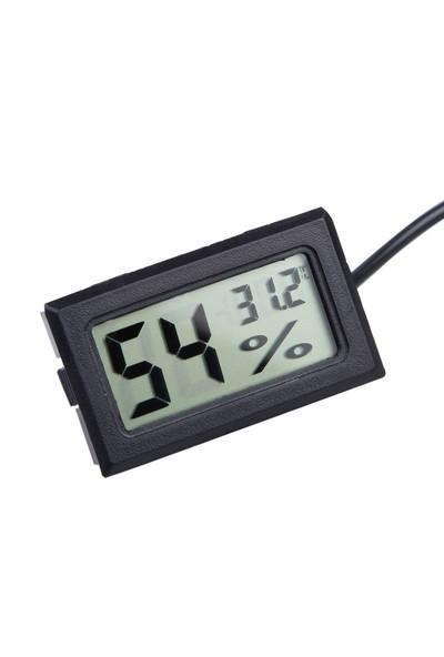 5 Adet Problu Termometre Sıcaklık Saati,Nem ölçer thr151-5