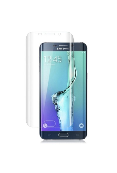 Samsung Galaxy S6 Edge Kavisli Pet Koruma Oval cin23cl