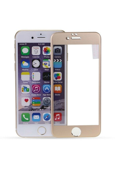 Iphone 6 ve 6S Gold 3D Curve Titanium Cam 4,7 Ekran cin35sr