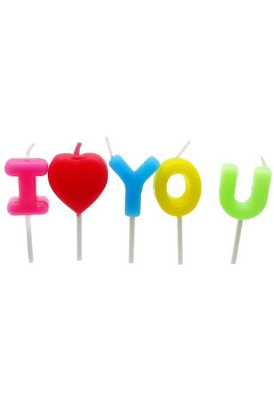 Happy Candle 5'li I love You Kalp Mum Seti mm02