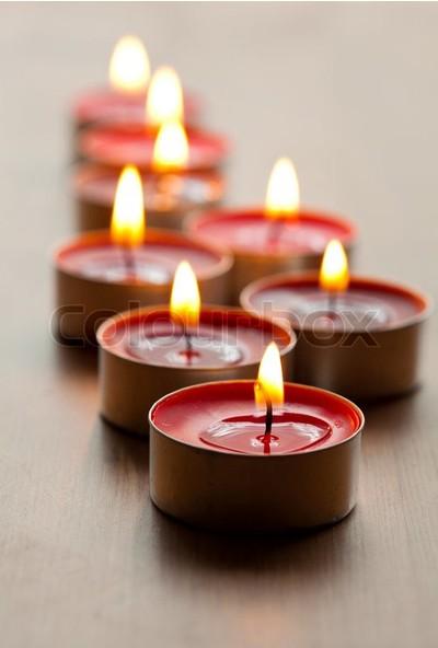Happy Candle 50 adet Kırmızı Tea Light Mum mm20-50