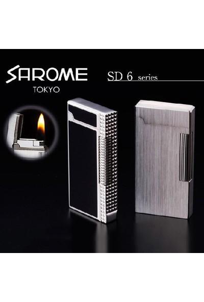 Sarome Siyah-Gri Yandan Çarklı Taşlı Çelik Çakmak srm040