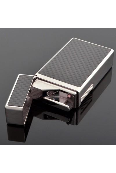 Sarome Karbon Fiber Yandan Çarklı Taşlı Çelik Çakmak srm058