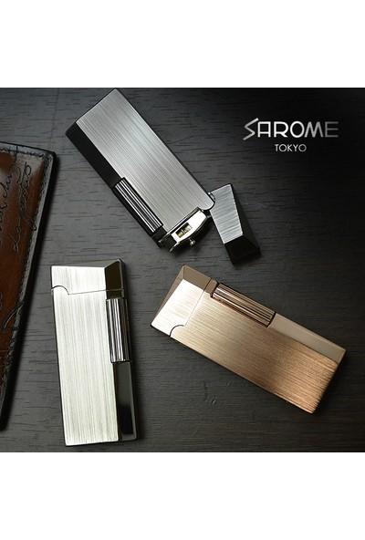 Sarome Gri Yandan Çarklı Taşlı Çelik Çakmak srm072