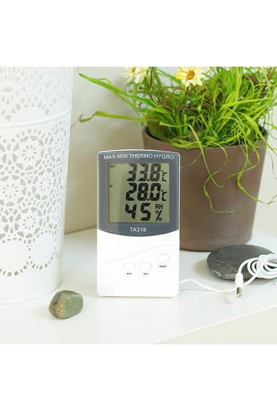 İç ve Dış Mekan Termometre ve Hydrometre Nem Ölçer thr105