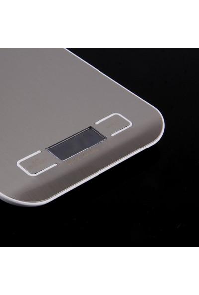 Dijital Çelik Mutfak Terazisi 5000 gr./ 1 gr. Tartı thr136