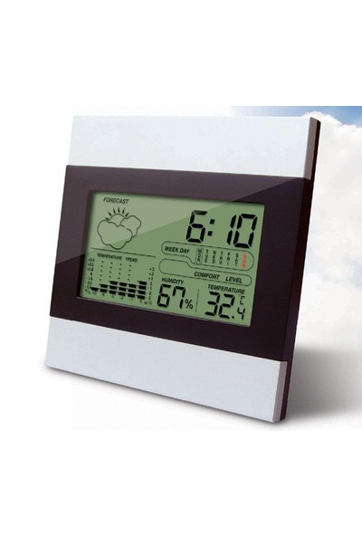 Saatli,Takvimli ve Alrmlı Sıcaklık, Nem ölçer Saati thr141