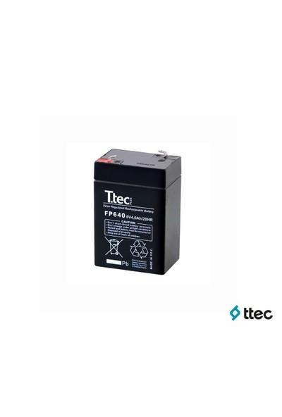 T.Tec Plus 6V 4Ah Bakımsız Kuru Akü