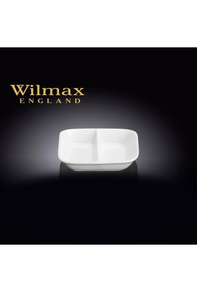 Wilmax Kare 2 Bölmeli Mini Kase/Sosluk/Reçellik, Çap:8,5*8,5Cm.