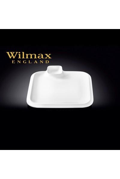 Wilmax Sosluklu Kare Tatlı Tabağı, 26*26Cm.