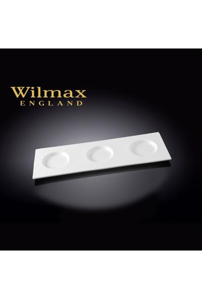 Wilmax 3 Çuukurlu Minimal Tepsi/Servis Tabağı, 34,5*12Cm.