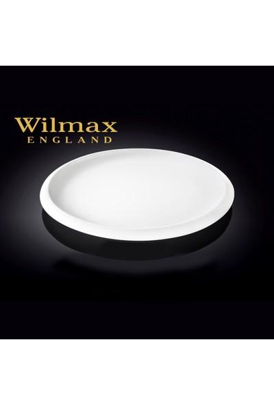 Wilmax Yarısı Kalın Şeritli Yuvarlak Yemek Tabağı, Çap:27Cm.