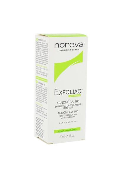 Noreva Exfoliac Acnomega 100 Keratoregulating Matifying Care 30Ml - Akneli Ciltler İçin Günlük Bakım Kremi