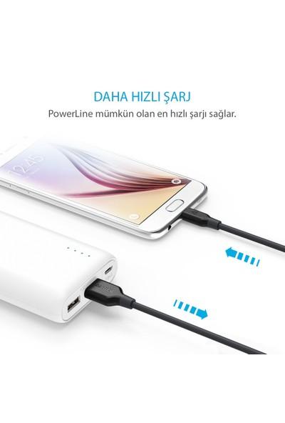 Anker PowerLine Micro USB Şarj/ Data Kablosu 0.9 Metre - Siyah - A8132